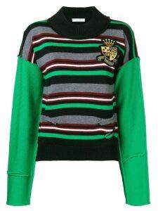 JW Anderson logo crest knitted jumper - Green