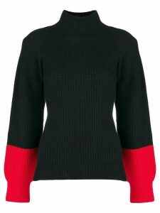 Eudon Choi colourblock turtleneck sweater - Black