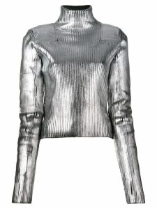 Mm6 Maison Margiela metallic turtleneck sweater