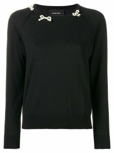 Simone Rocha beaded bow sweater - Black