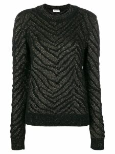 Saint Laurent glitter jumper - Black