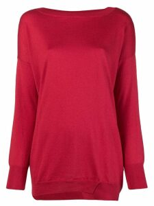 Snobby Sheep boat neck jumper - Red