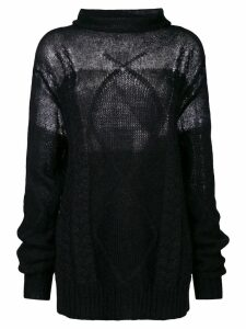Maison Margiela high neck jumper - Black