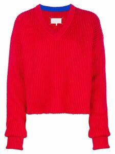 Maison Margiela V-neck jumper - Red