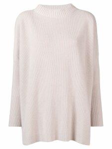 Lorena Antoniazzi ribbed knit sweater - Neutrals