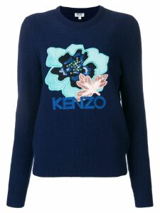 Kenzo Indonesian Flower jumper - Blue