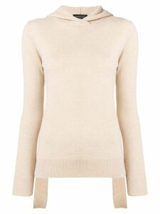 Cashmere In Love Mabel hooded jumper - NEUTRALS