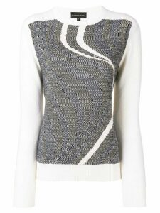 Cashmere In Love sky intarsia jumper - White