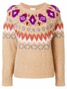 Forte Forte jacquard knit jumper - NEUTRALS