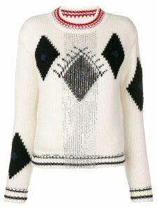 Ermanno Scervino embellished jumper - White