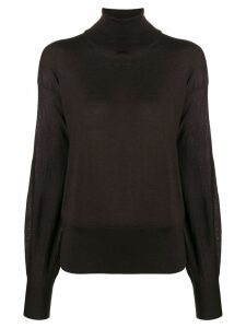 Agnona roll neck sweater - Brown