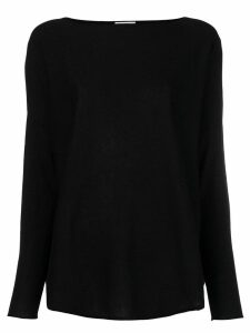 Snobby Sheep boat neck jumper - Black