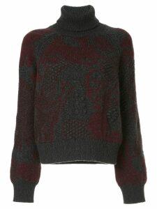 Barrie Stencil Garden cashmere turtleneck pullover - Grey
