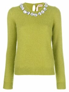 Nº21 diamond neck sweater - Green