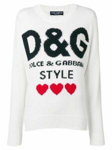 Dolce & Gabbana D & G Style sweater - White