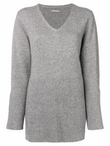 Hemisphere flared hem sweater - Grey