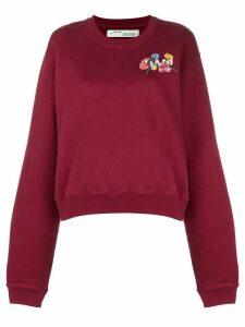 Off-White flower chest sweatshirt - Red