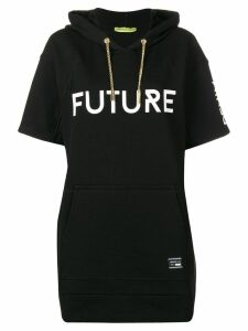 Versace Jeans Couture hooded short sleeve long jumper - Black
