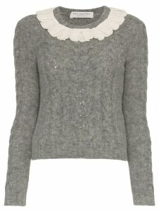 Philosophy Di Lorenzo Serafini Lace collar wool-blend sweater - Grey