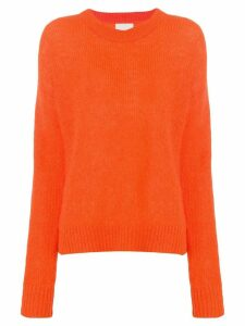 Laneus crew neck sweater - ORANGE