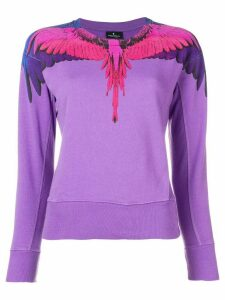 Marcelo Burlon County Of Milan bird feathers printed sweater - PURPLE