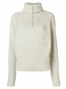 Isabel Marant roll neck textured knit jumper - White