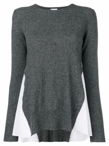 Dondup contrast side panel sweater - Grey