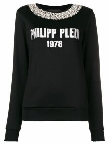 Philipp Plein logo knit jumper - Black