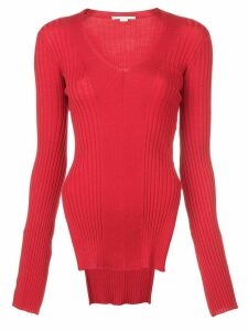 Stella McCartney ribbed knit side slit sweater - Red