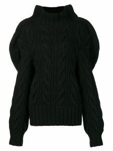 Aalto chunky knit jumper - Black