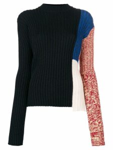 Calvin Klein 205W39nyc colour block ribbed sweater - Black