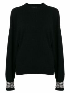 Alexander Wang crystal embellished sweater - Black