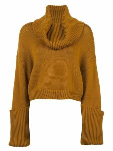 Monse turtleneck cropped jumper - Brown