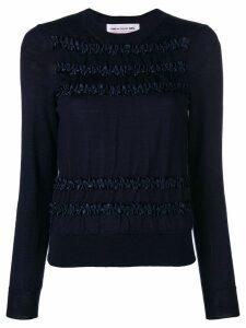 Comme Des Garçons Girl ruffled detail jumper - Blue