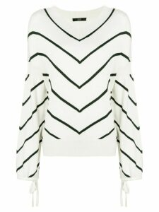 Steffen Schraut diagonal stripe jumper - NEUTRALS