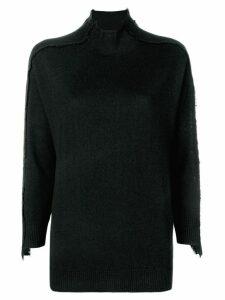 Steffen Schraut stand-up collar jumper - Black