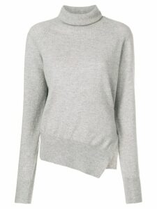 Zanone side slit jumper - Grey