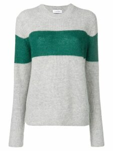Calvin Klein colour-block fitted sweater - Grey