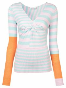 Tome striped fitted jumper - Blue