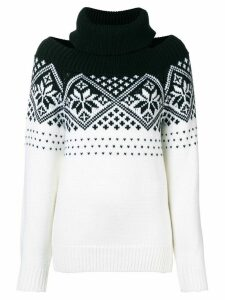 Monse cold shoulder snowflake sweater - Black