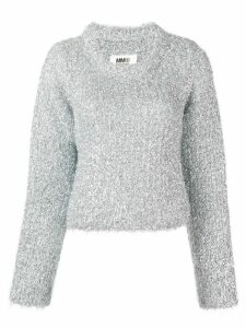 Mm6 Maison Margiela 'metal shavings' sweater - Metallic