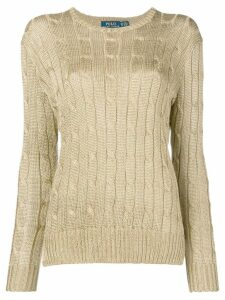Polo Ralph Lauren cable knit jumper - Metallic