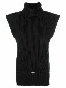 Alexander McQueen roll neck knit top - Black