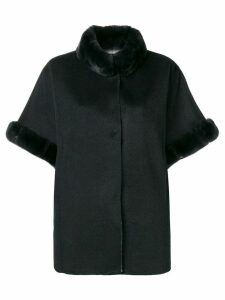 N.Peal double sided fur poncho - Grey