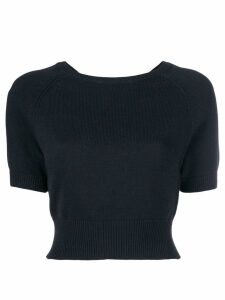 Cashmere In Love cropped knitted top - Black