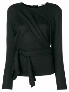 Chalayan draped front belted top - Black