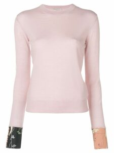 Emilio Pucci silk cuffed crew neck sweater - PINK