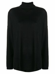 Snobby Sheep roll neck knit pullover - Black