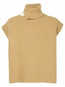Raf Simons knitted vest - Brown