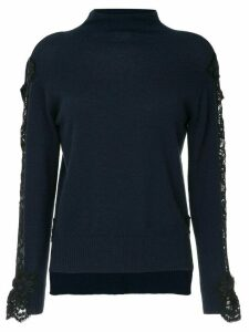 Onefifteen lace detail top - Blue